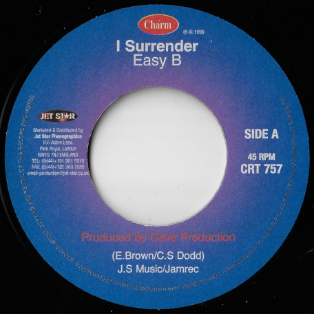 I Surrender / Get Ready - Easy B / Linval Thompson