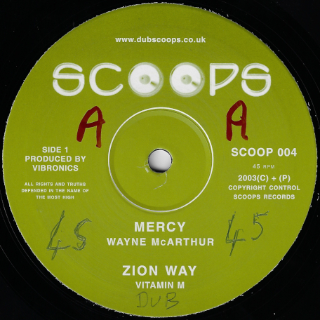 Mercy / Zion Way / Fettered And Chained / Ver - Wayne McArthur / Vitamin M / Madu / Livication Riddim Section