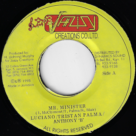 Mr Minister / I Love Jah Ver - Luciano / Triston Palma / Anthony B