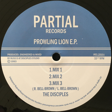 PROWLING LION EP Mix 1 / Mix 2 / Mix 3 / Raw Mix 4 / Raw Mix 5 - The Disciples