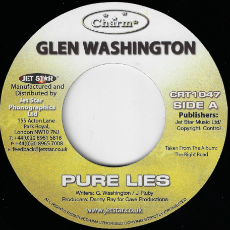 Pure Lies / Marcus Garvey Riddim - Glen Washington