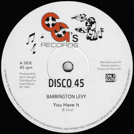 You Have It / You Have A Dub - Barrington Levy / GGs All Stars