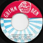 Let's Keep It That Way / Dub Part 2 - Jimmy London / GG All Stars